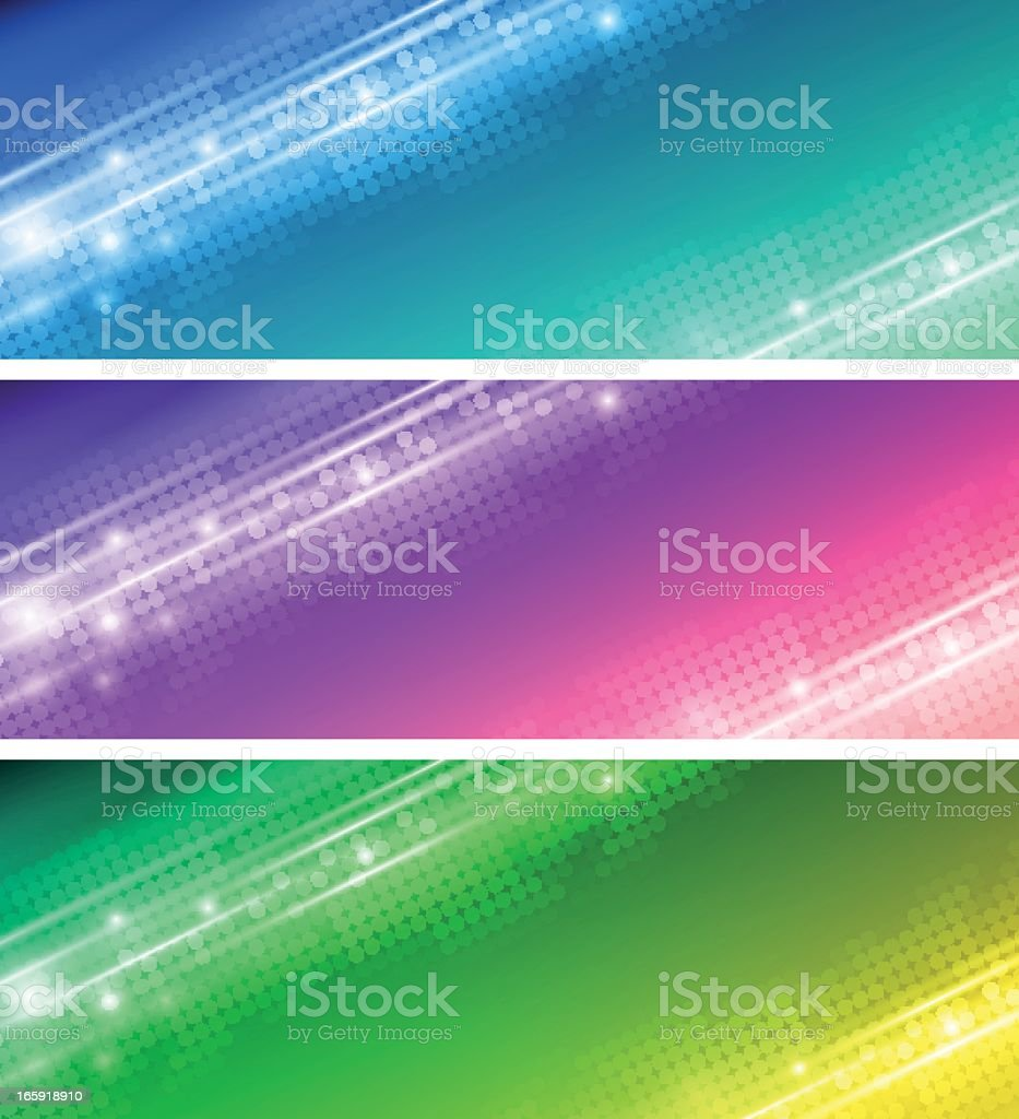 Colorful abstract banner in blue, green and purple royalty-free stock vector art