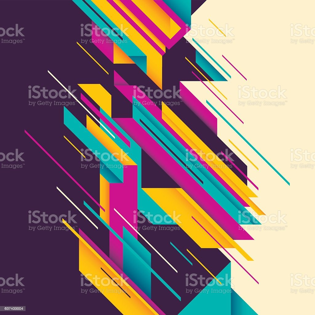 Colorful abstract composition. vector art illustration