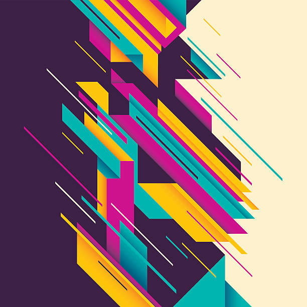 colorful abstract composition. - angle stock illustrations