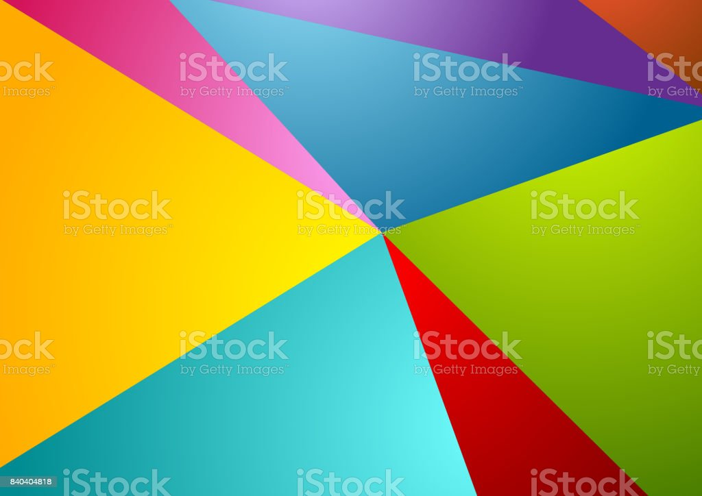 Colorful abstract corporate polygonal background vector art illustration