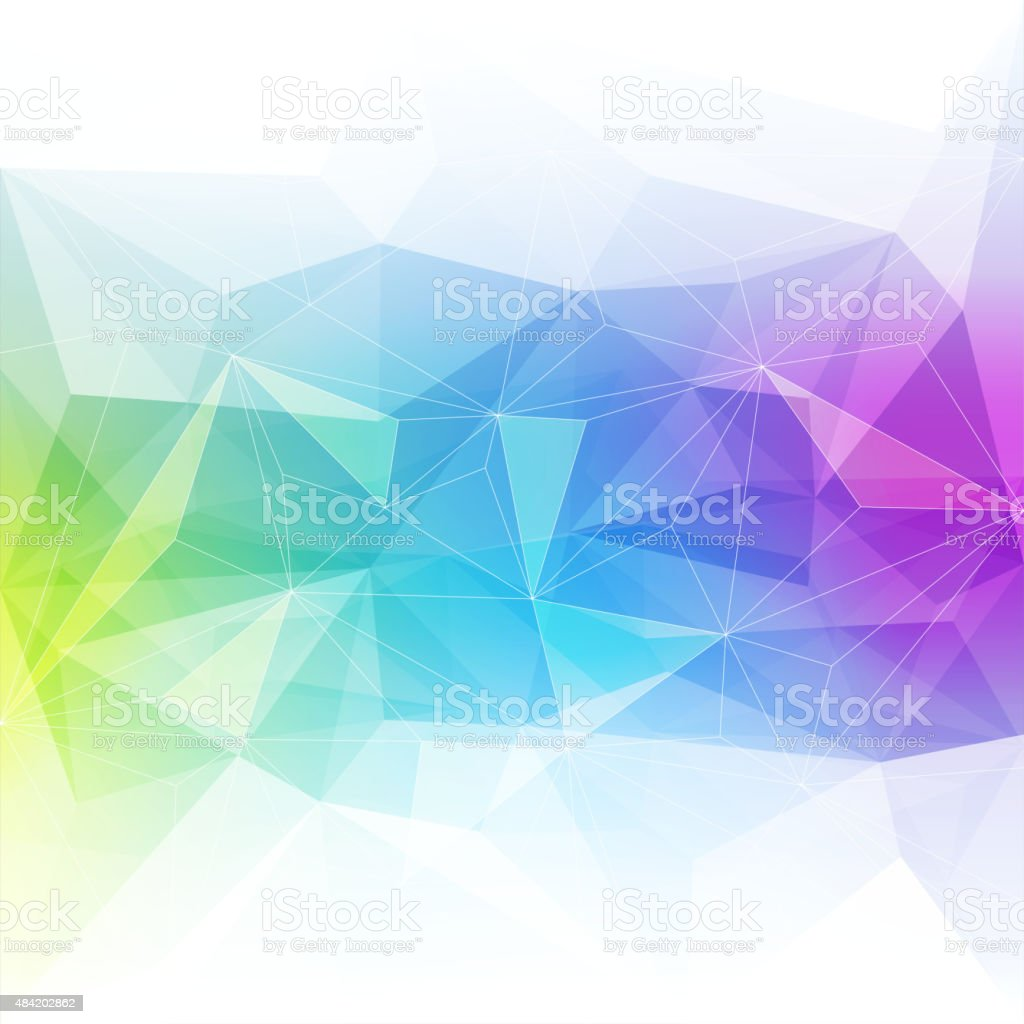 Colorful abstract crystal background vector art illustration