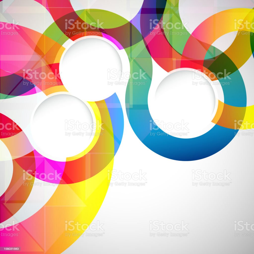 Colorful abstract design background vector art illustration