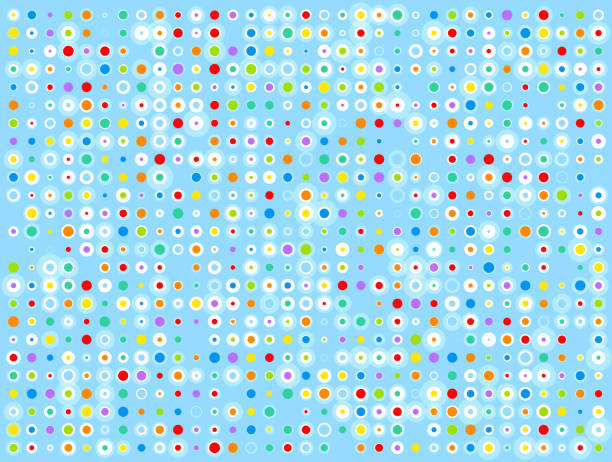 colorful abstract dots blue background
