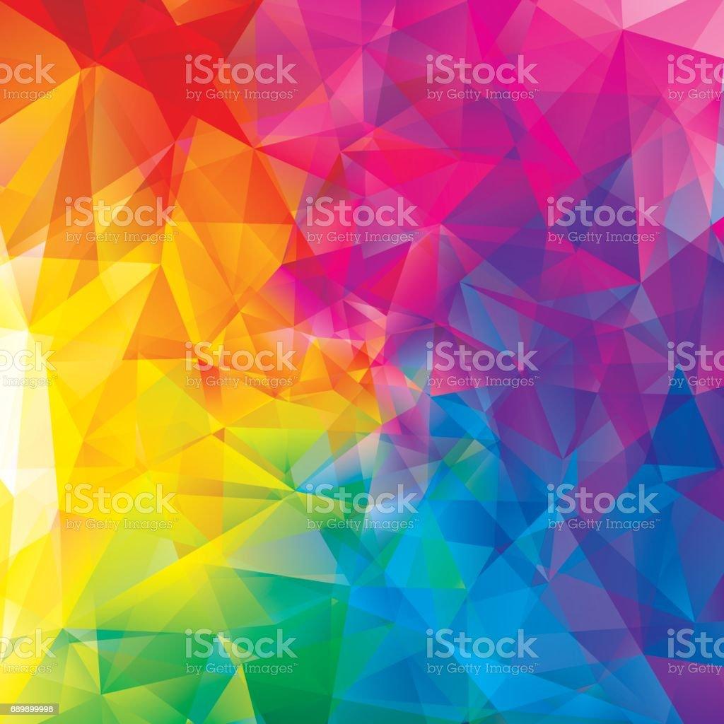 Colorful  Abstract Geometric Background - ilustración de arte vectorial