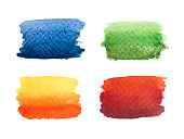 Colorful Abstract Gradient Watercolor Paint Banners