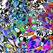 colorful abstract shape background