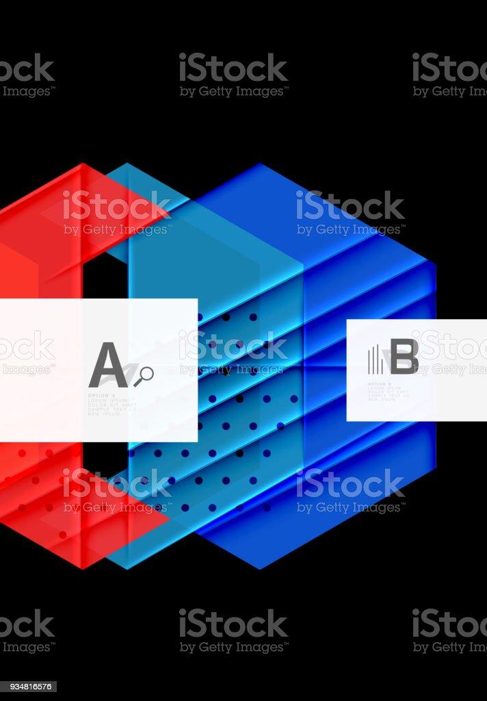 다채로운 추상적인 모양 배경 - 로열티 프리 0명 벡터 아트