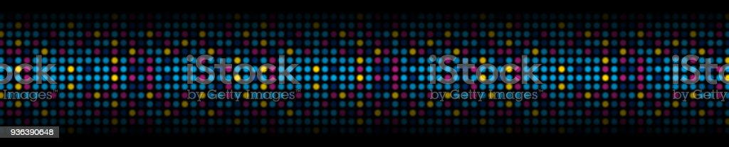Colorful abstract shiny light circles web header banner vector art illustration