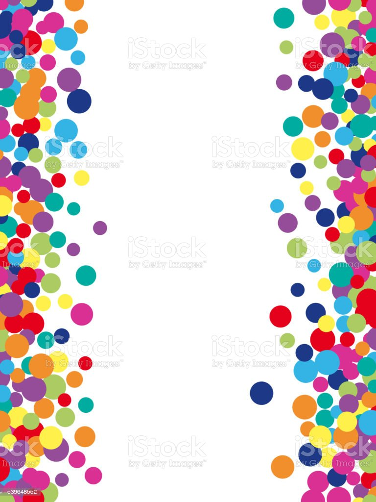 Colorful abstract spot background vector art illustration