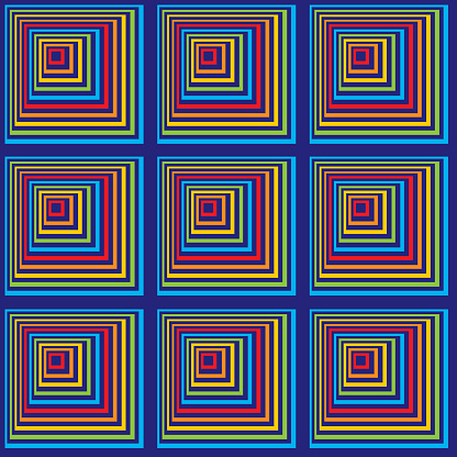 Colorful Abstract Squares Seamless Pattern