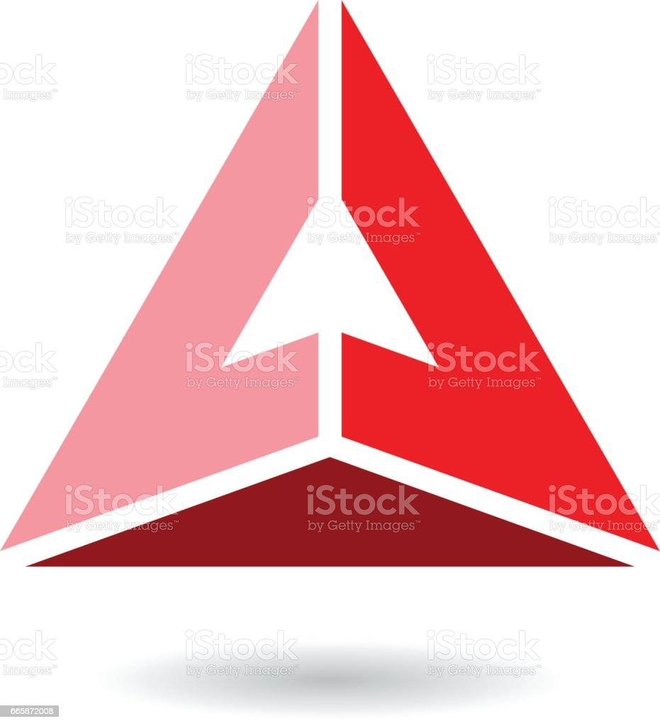 Colorful Abstract Triangle Symbol Of Letter A Stock Vector Art ...