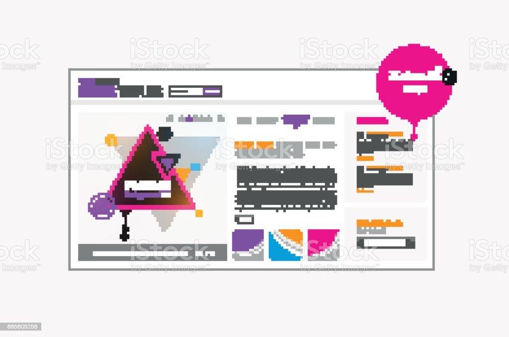 다채로운 추상적인 사용자 인터페이스 벡터 디자인입니다. royalty-free 다채로운 추상적인 사용자 인터페이스 벡터 디자인입니다 공란에 대한 스톡 벡터 아트 및 기타 이미지