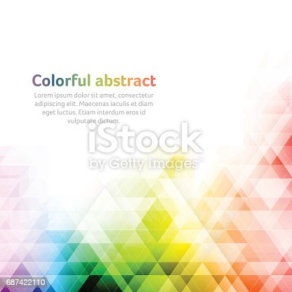 Colorful abstract background with geometric shapes. Vector illustration with place for your text.