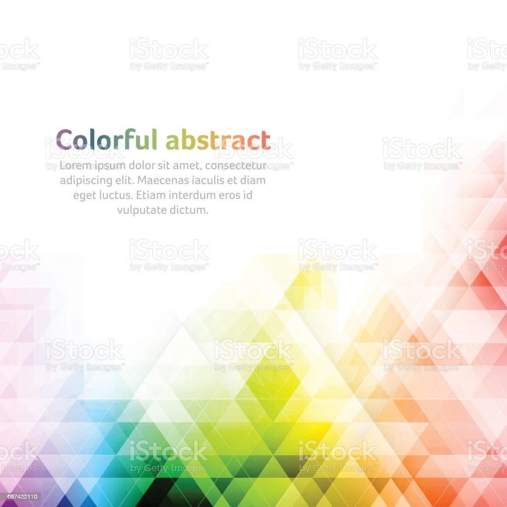 Colorful abstract vector background. Geometric shapes. - ilustración de arte vectorial