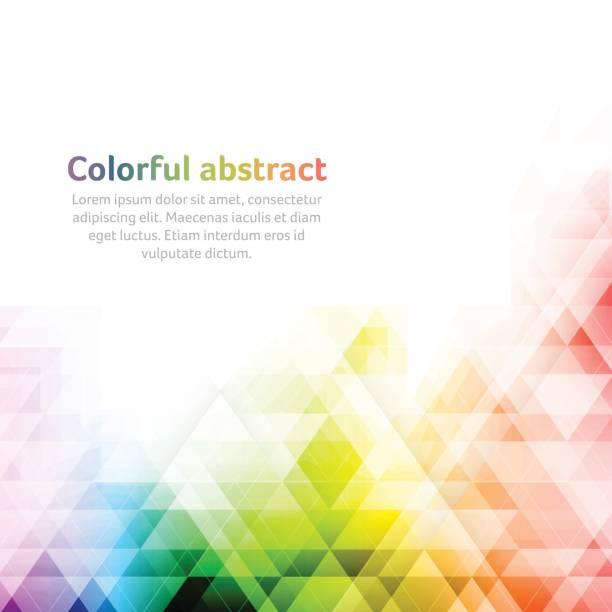 Colorido fondo vectorial abstracto. Formas geométricas. - ilustración de arte vectorial