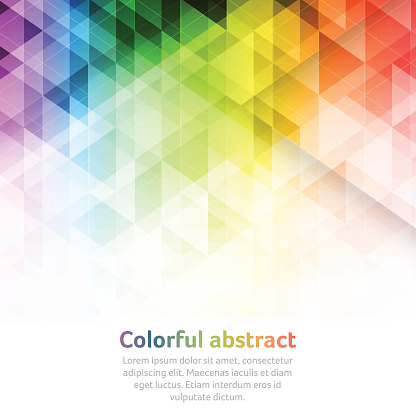 Colorful abstract vector background with triangular geometric pattern.