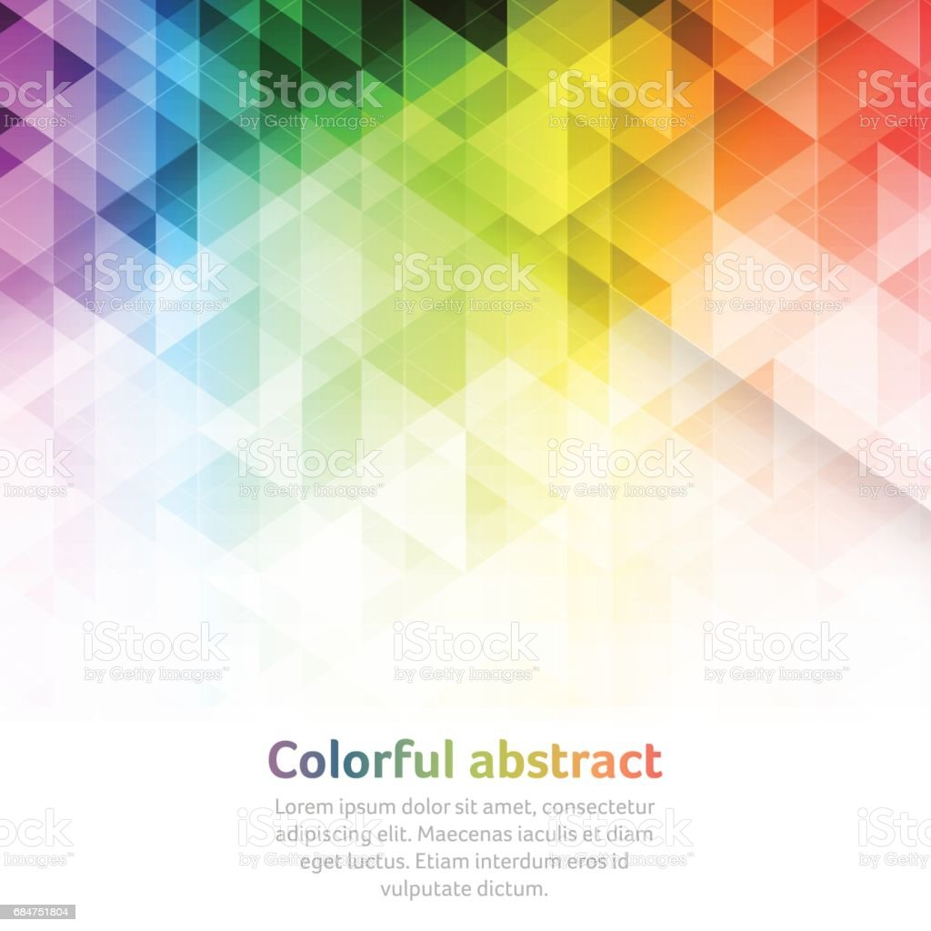 Colorful abstract vector background with triangular geometric pattern. - ilustración de arte vectorial
