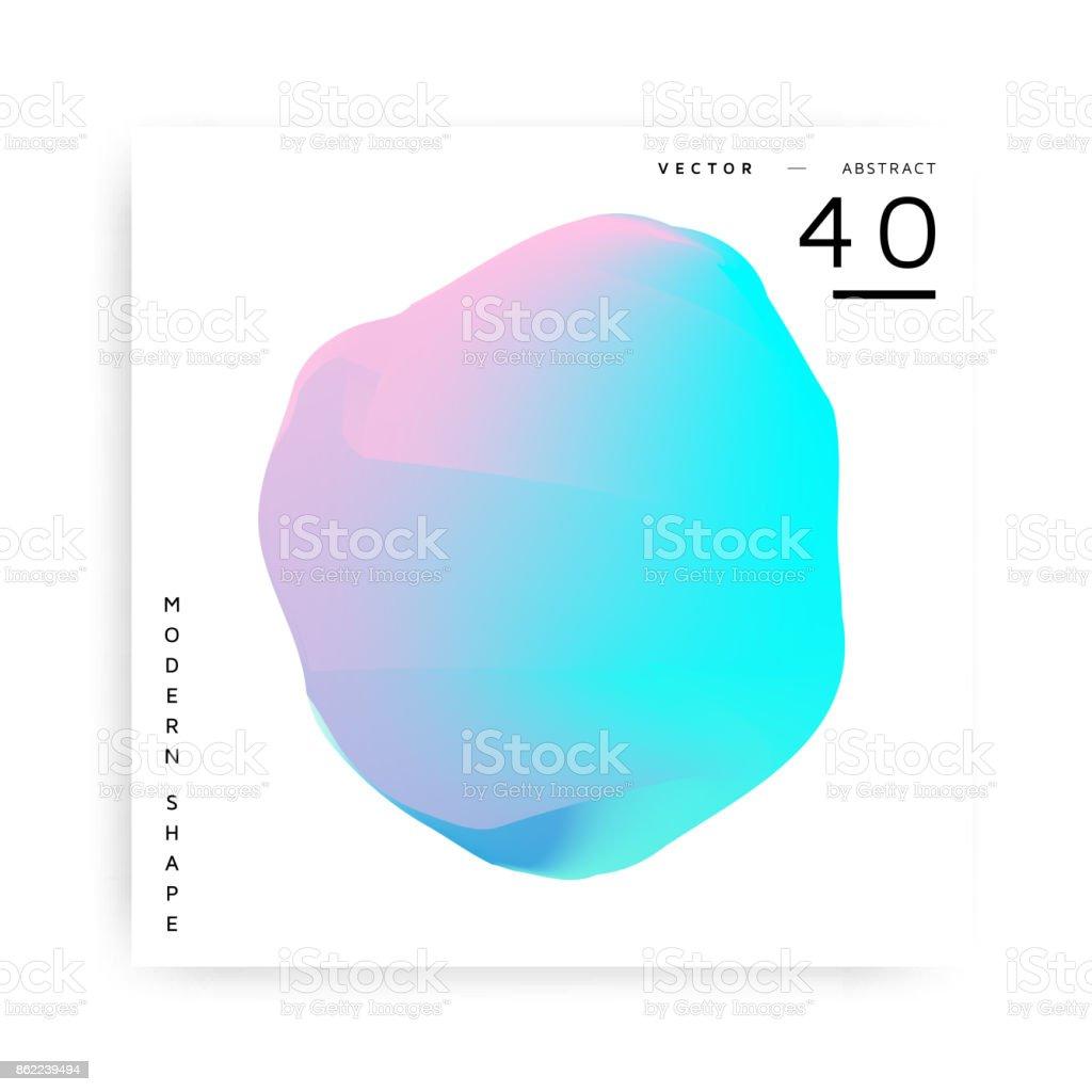 Moderna forma de vetor abstrato colorido - Vetor de Abstrato royalty-free