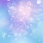 Colorful abstract vivid blur bokeh circles in soft color style background. Glitter holiday purple blue pink template. Luxurious natural texture. EPS 10
