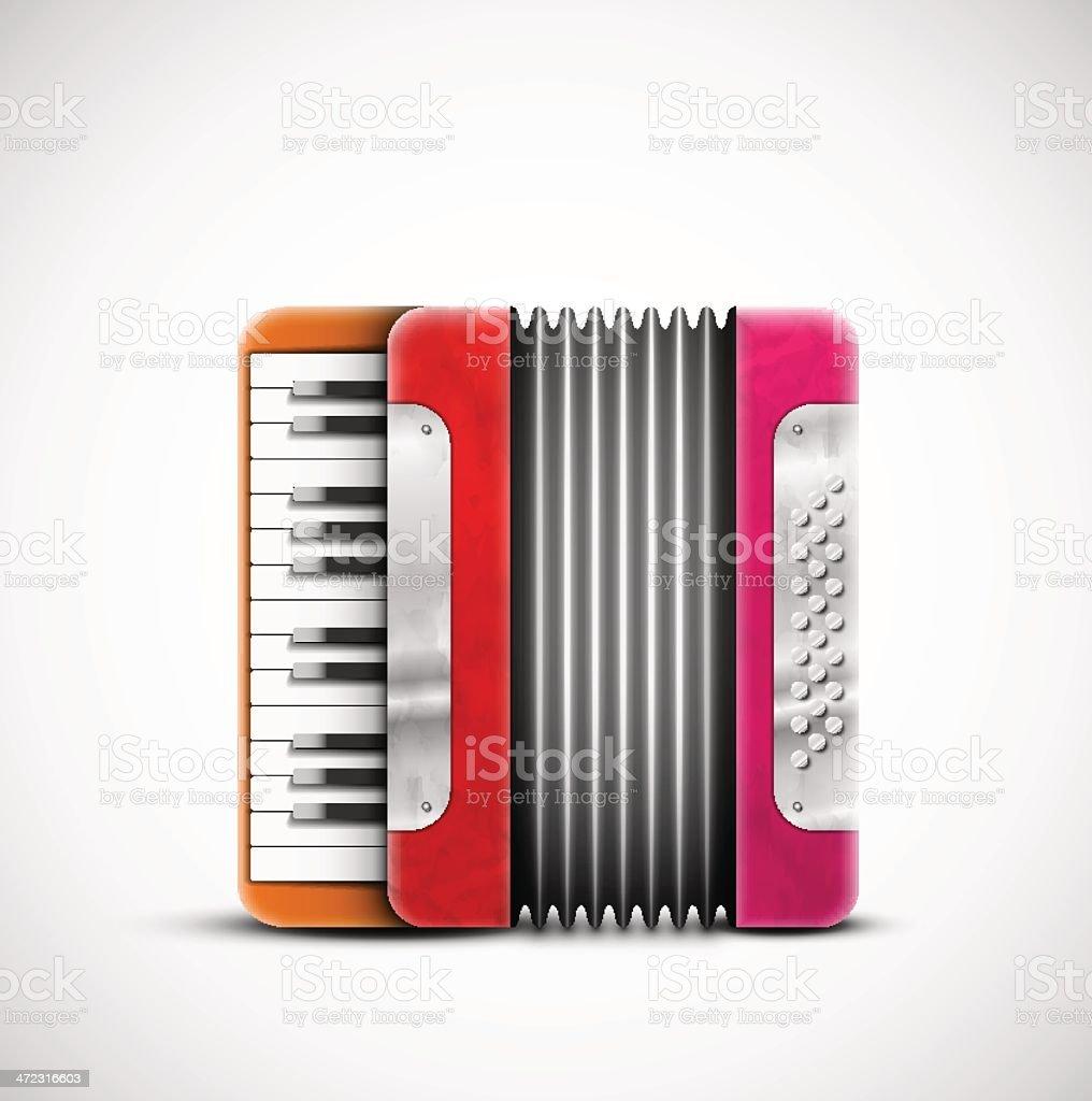 Colorido acordeón - ilustración de arte vectorial