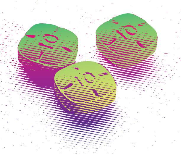 bildbanksillustrationer, clip art samt tecknat material och ikoner med färgglada adderall piller - amphetamine pills