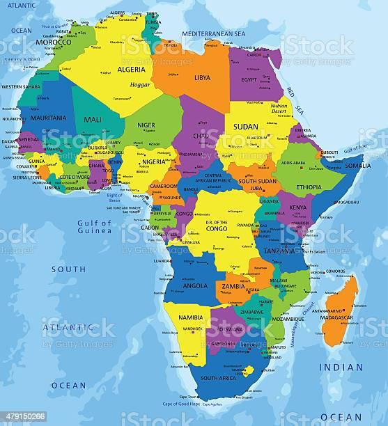 Cartina Politica Africa In Italiano.Colorato Africa Mappa Politica Immagini Vettoriali Stock E Altre Immagini Di 2015 Istock