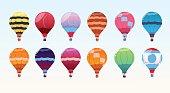 Colorful Air Balloons Set, Airship Collection