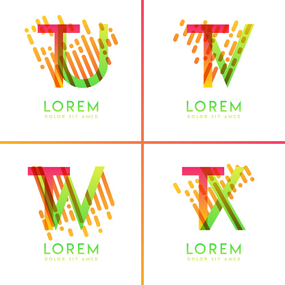 colorful alphabet bold logo for promotion, marketing and advertising, can be used for companies, corporations, cooperatives and SME. suitable for print media, online ads, poster, flyer, banner, cover