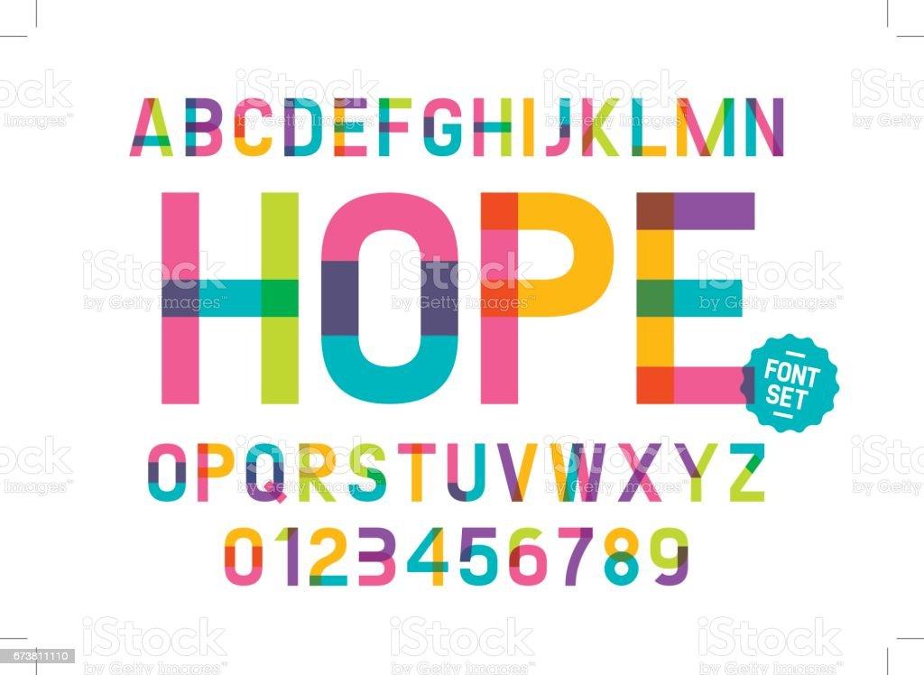 Colorful alphabet vector art illustration