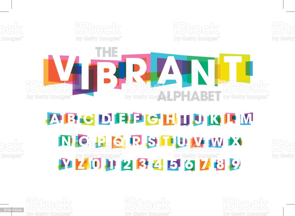 Colorful alphabet vector art illustration