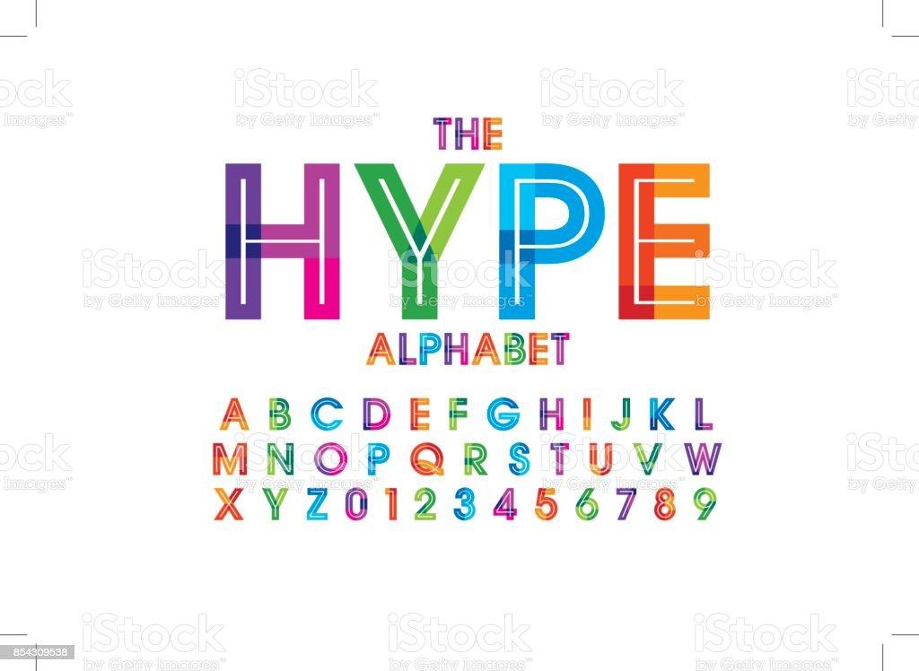 färgglada alfabetet - Royaltyfri Alfabet vektorgrafik