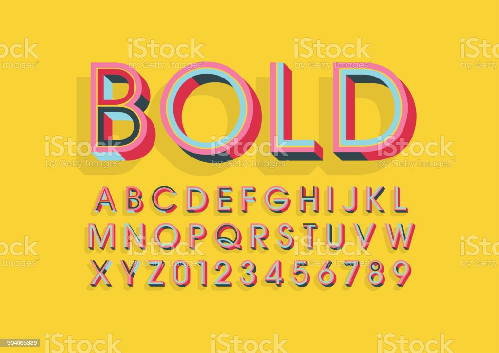alphabet coloré - Illustration vectorielle