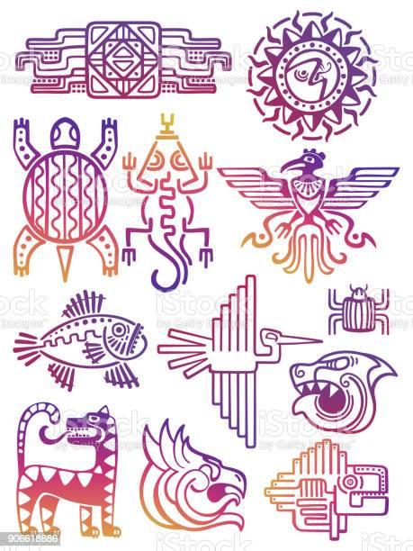 Colorful american aztec mayan symbols vector id906618686?b=1&k=6&m=906618686&s=612x612&h=e bzfzgsroynnr5p41bcbe19 khaotynddsfhqubstq=