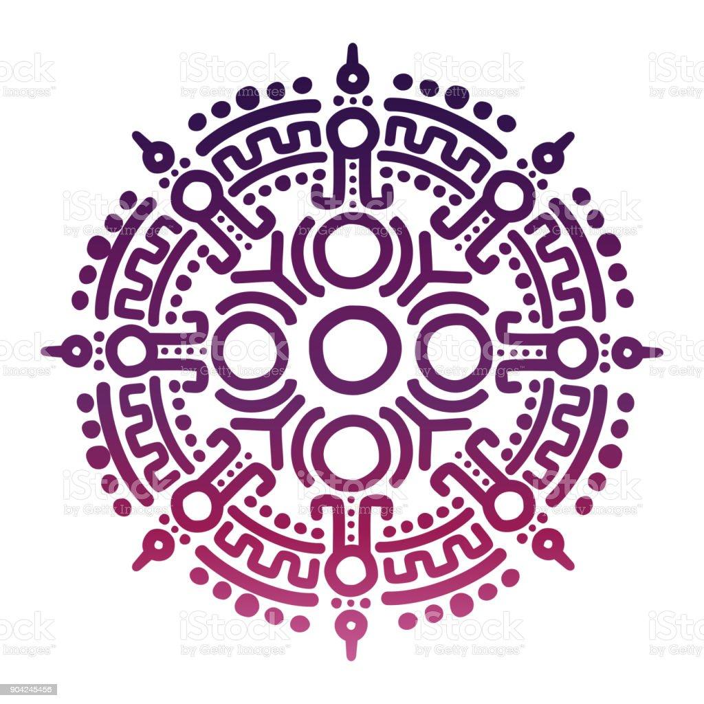 Símbolo de la antigua mitología mexicana colores - ilustración de arte vectorial