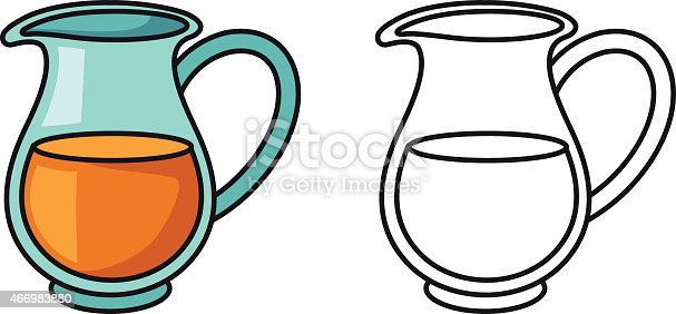 coloring pages pitcher of water - photo#24