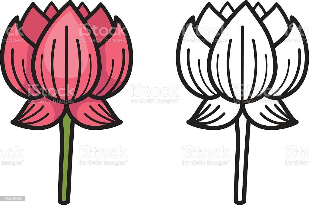 En Couleur Et Noir Et Blanc Fleur De Lotus Pour Livre De