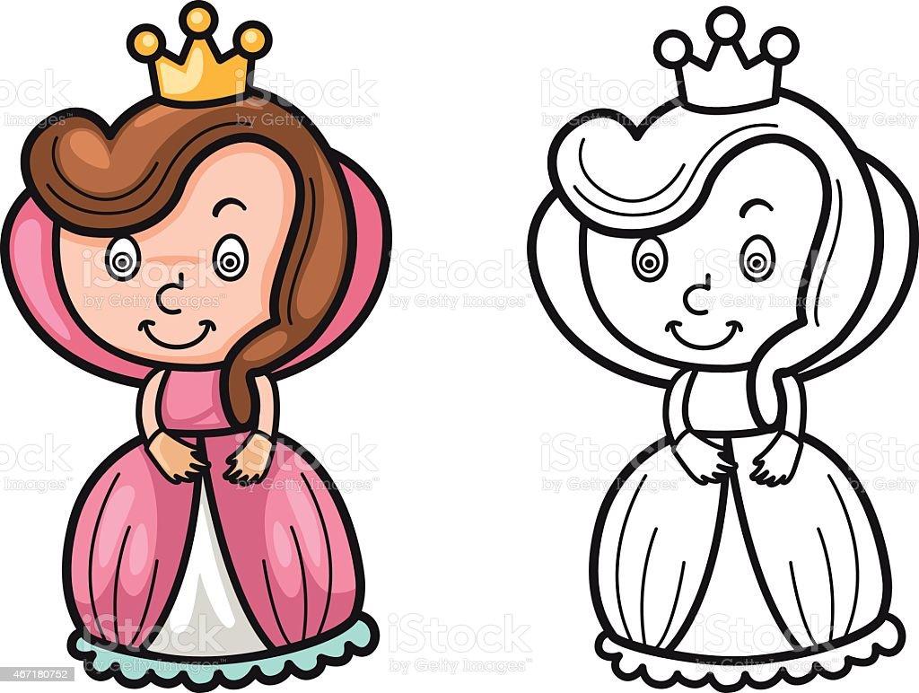 Ilustración de Colorido Y Blanco Y Negro Para Colorear Libro Con ...