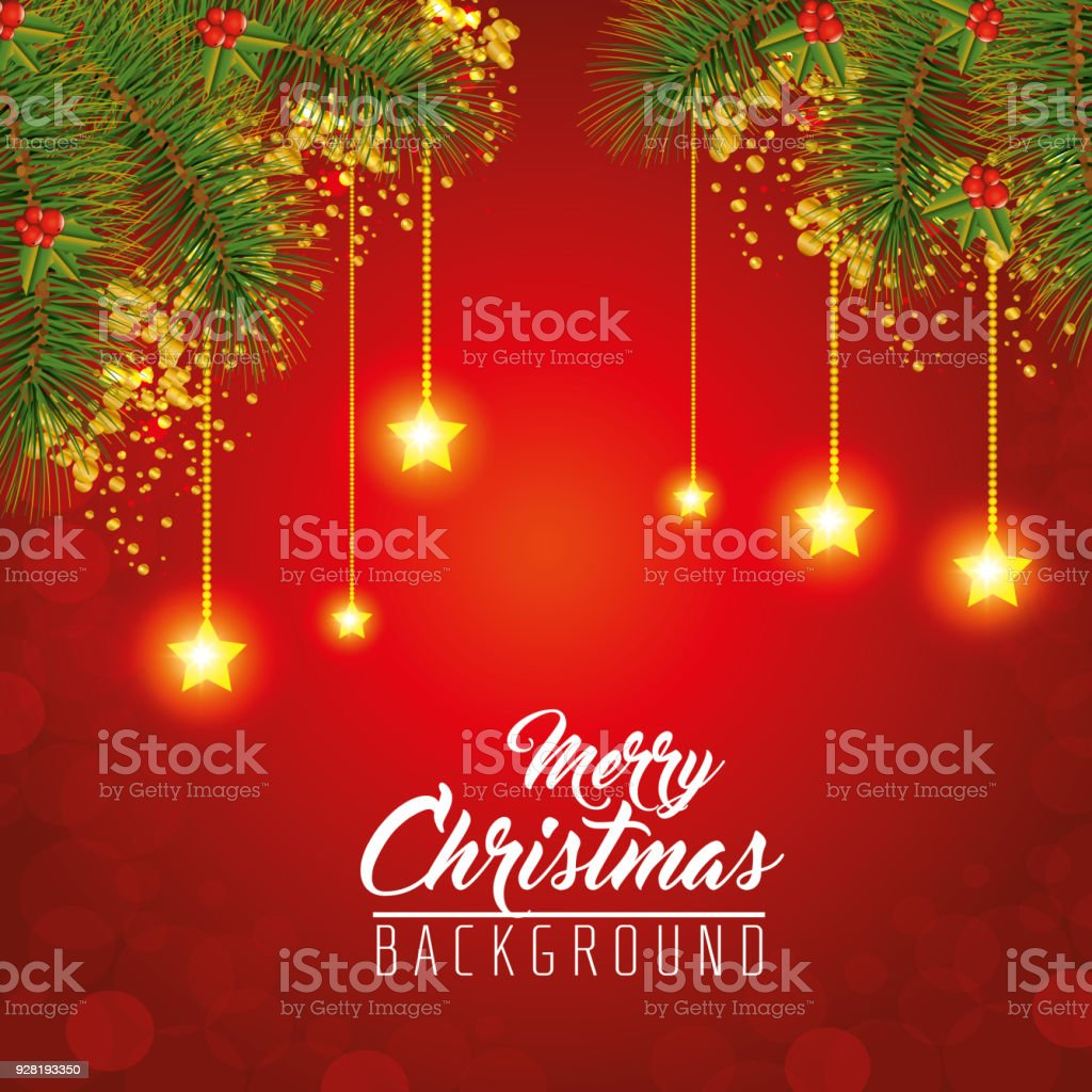 Colorful Christmas Background Design.Colorful And Bright Merry Christmas Background Stock