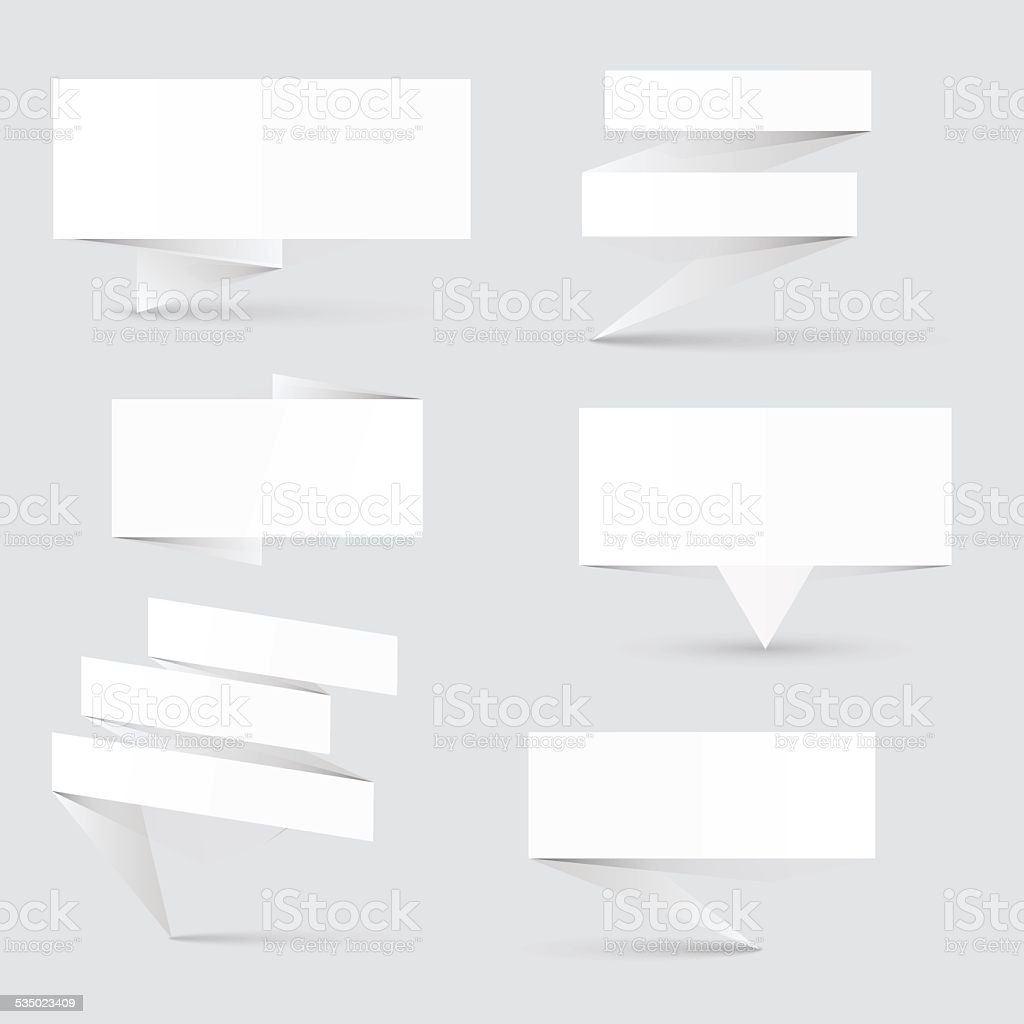 Colorful and decorated paper banners for your text