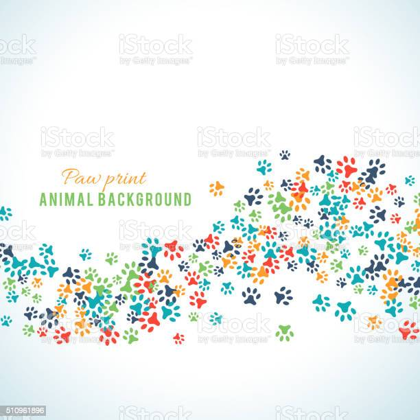 Colorful animal footprint ornament border isolated on white vector id510961896?b=1&k=6&m=510961896&s=612x612&h=o8bgcoor0  kplaaataf9wpdxafrocn2k9mli5 z5ws=