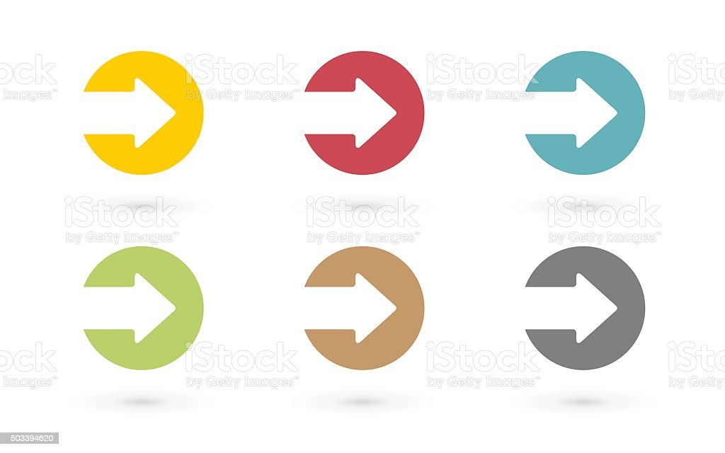 Colorful arrows in circle icon vector art illustration