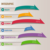 Arrows design elements for business infographics.