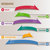Arrows design elements for business infographic.