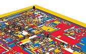 colorful art illustration of Forbidden City structure