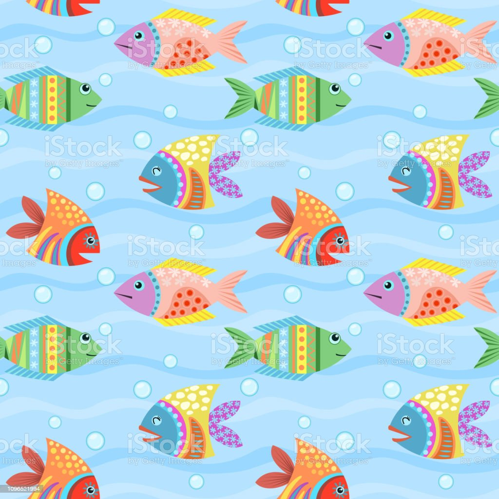 Colorful Artistic Background Aquarium Can Used For Wallpaper