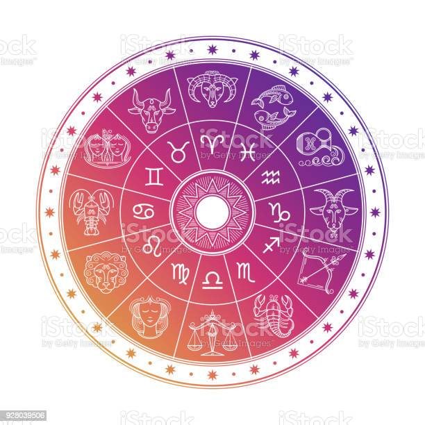 Colorful astrology circle design with horoscope signs isolated on vector id928039506?b=1&k=6&m=928039506&s=612x612&h=mepzdfngnx1xnk7t4scuixmll1qwd3qrqtspknoevha=