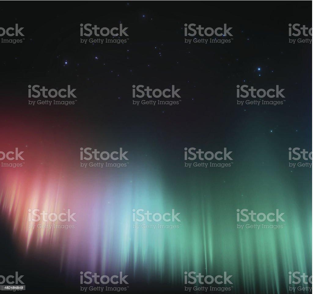 Colorido aurora - ilustração de arte em vetor