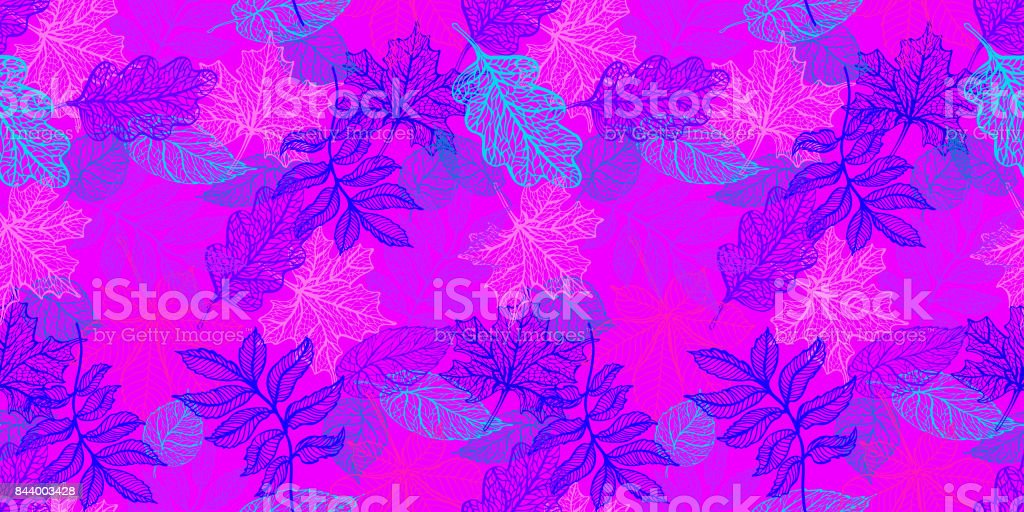 Colorful autumn leaves vector art illustration