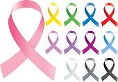 Colorful awareness ribbons design