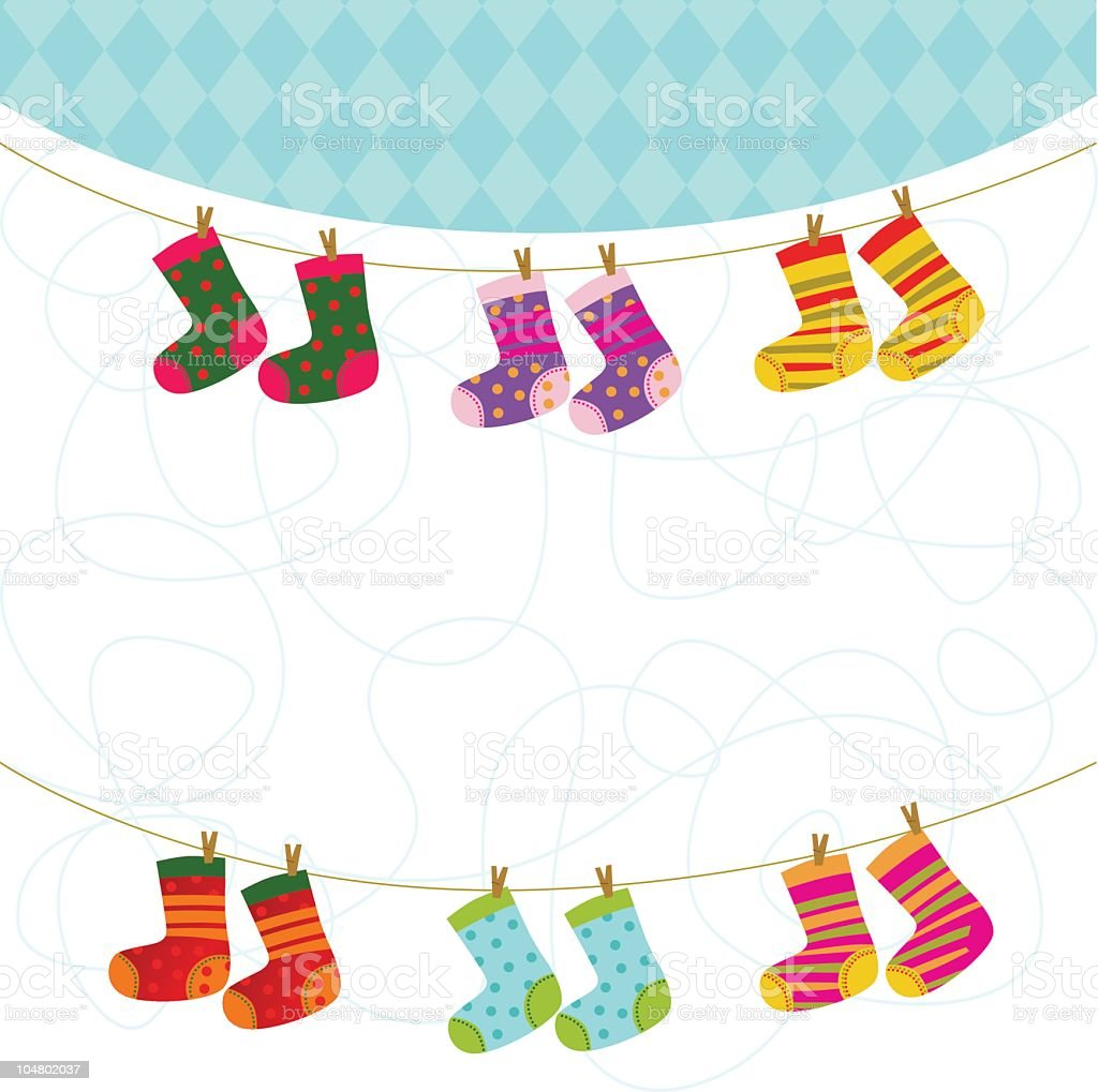 Bunte Baby Socken Vektor Illustration 104802037 | iStock